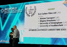 Magma receives the JEC 2018 composites award on behalf of the consortium
